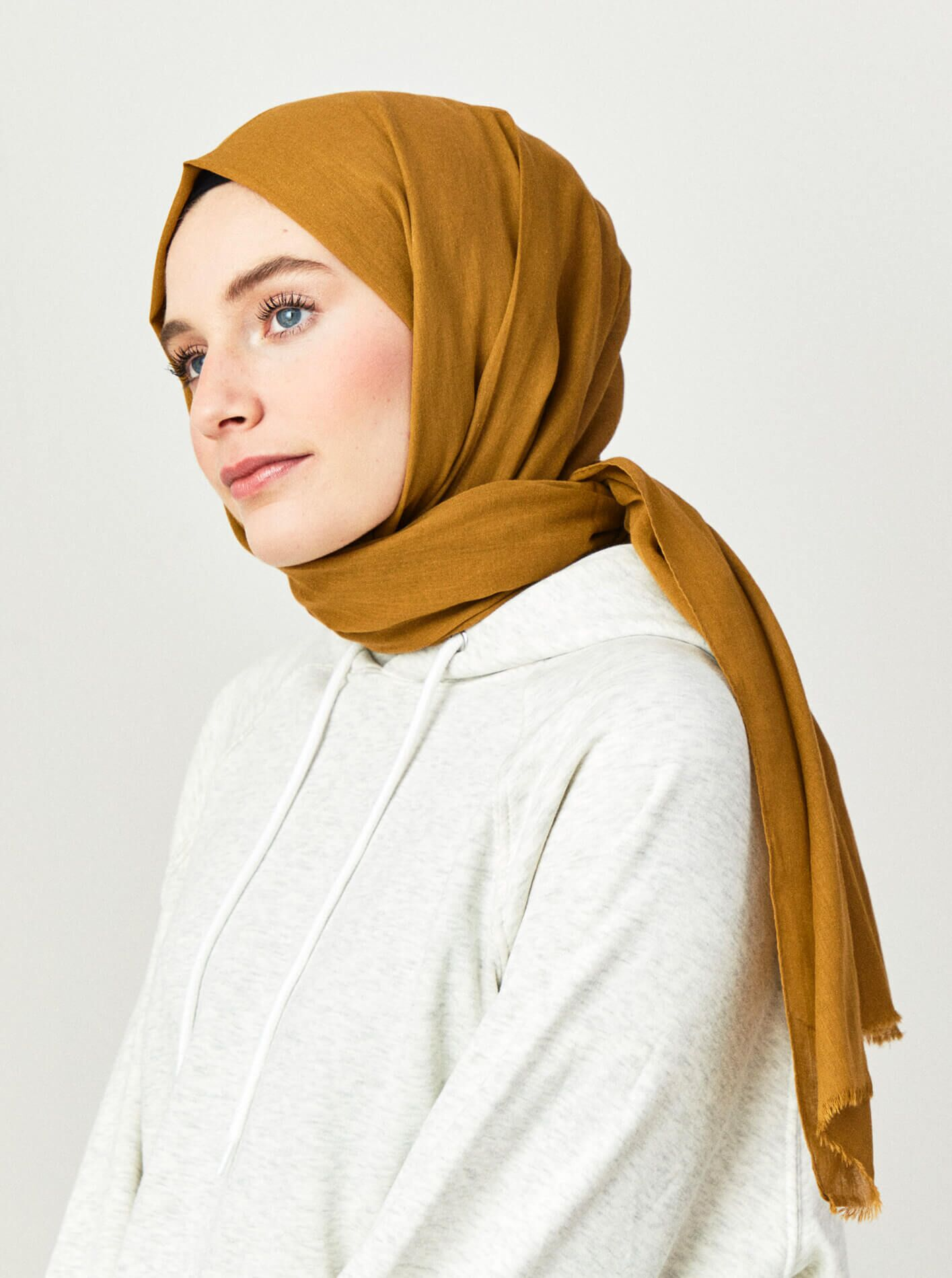 Cotton Voile Shawl Amber