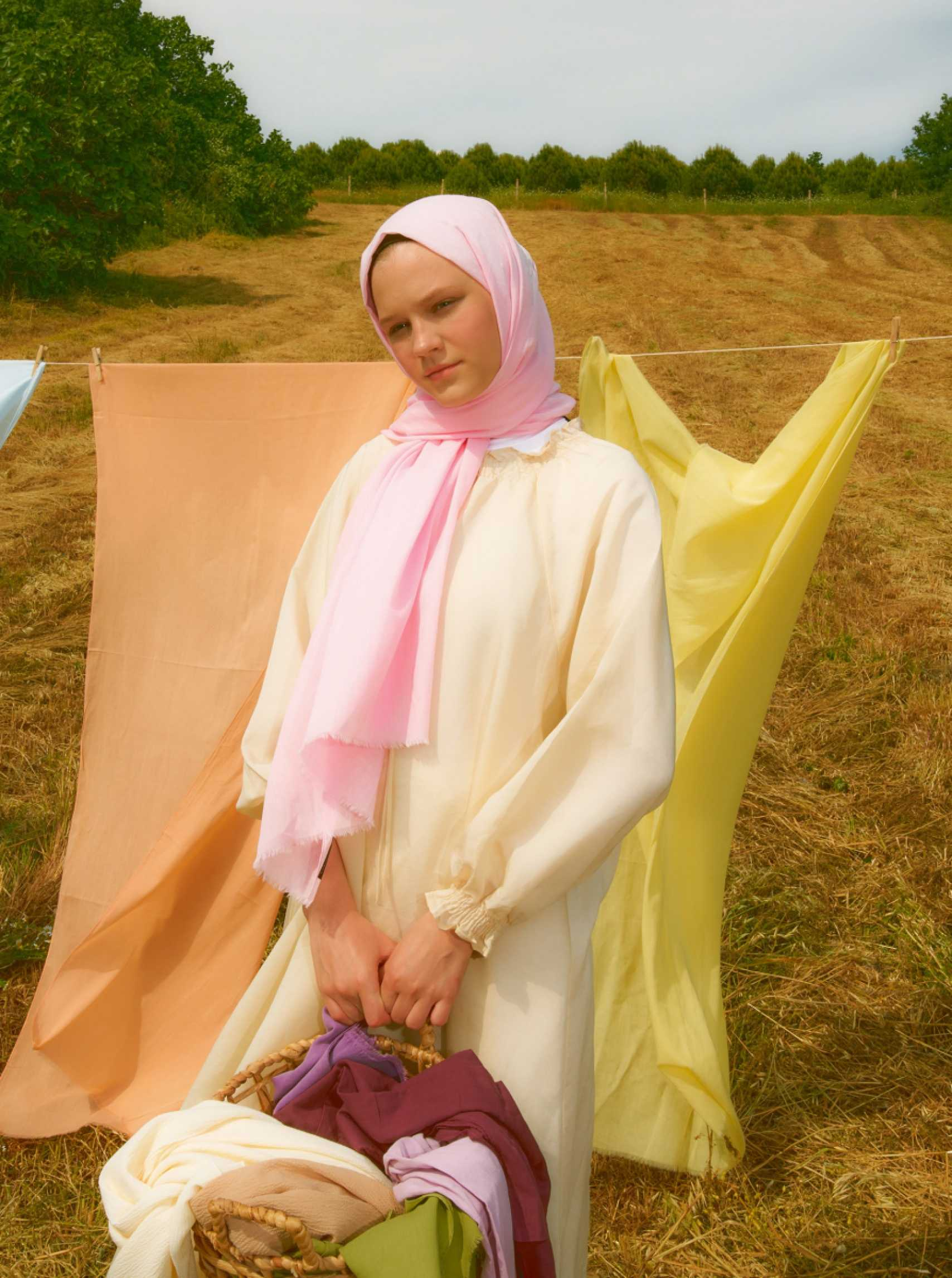 Cotton Voile Shawl Candy