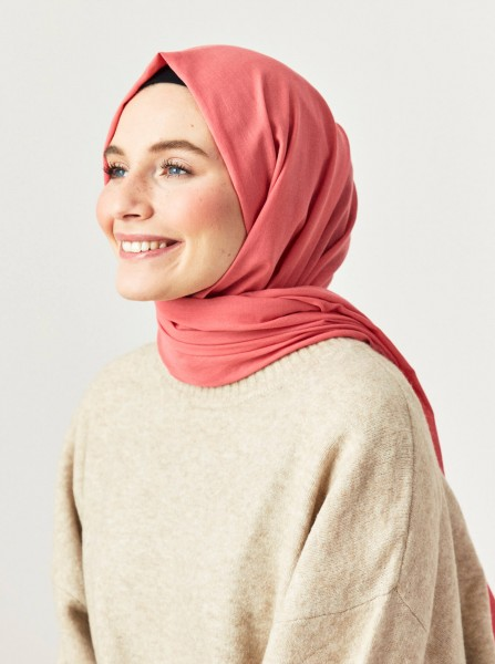 Cotton Voile Shawl Candy Pink - Thumbnail