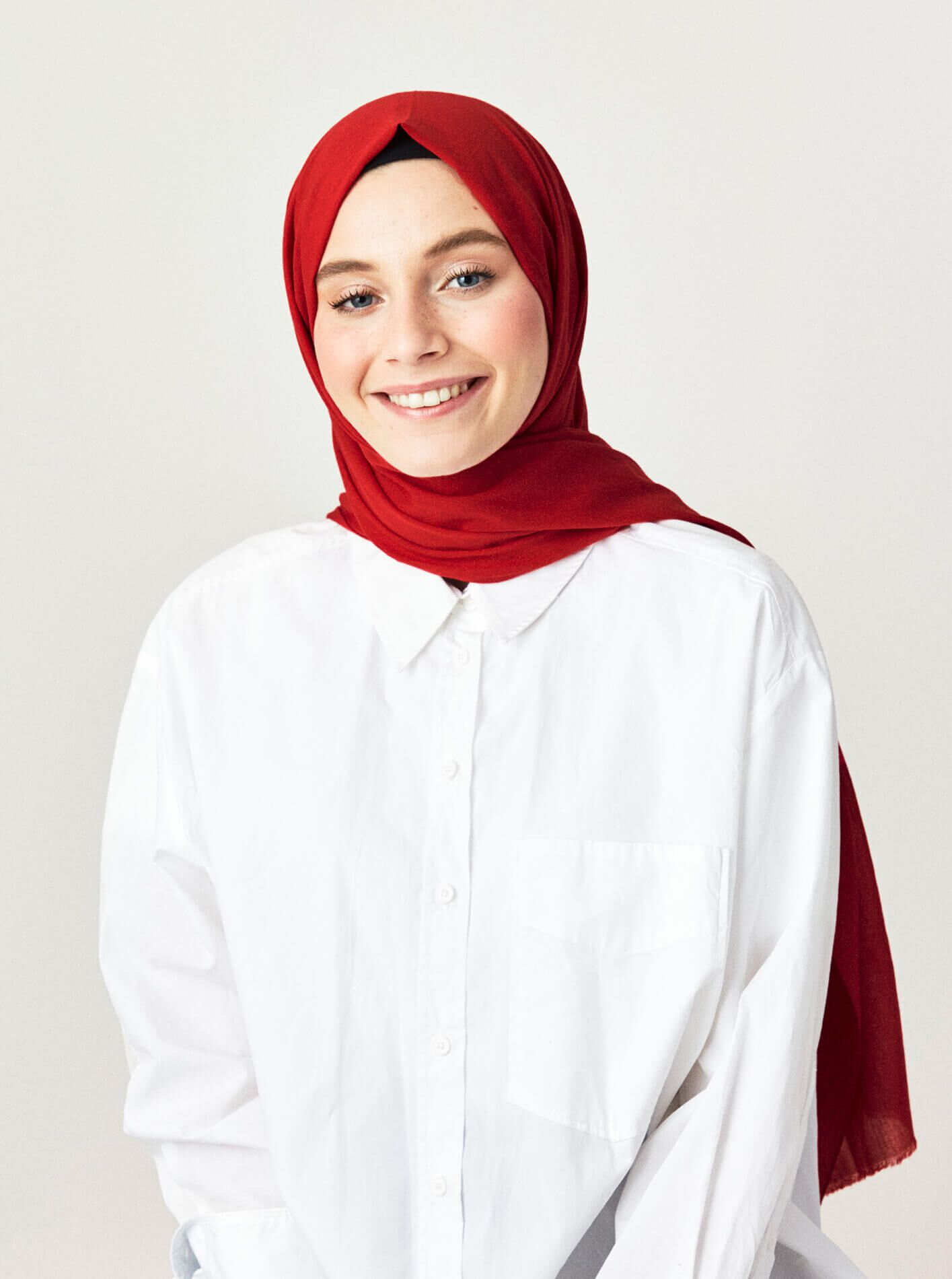 Cotton Voile Shawl Cherry Rot