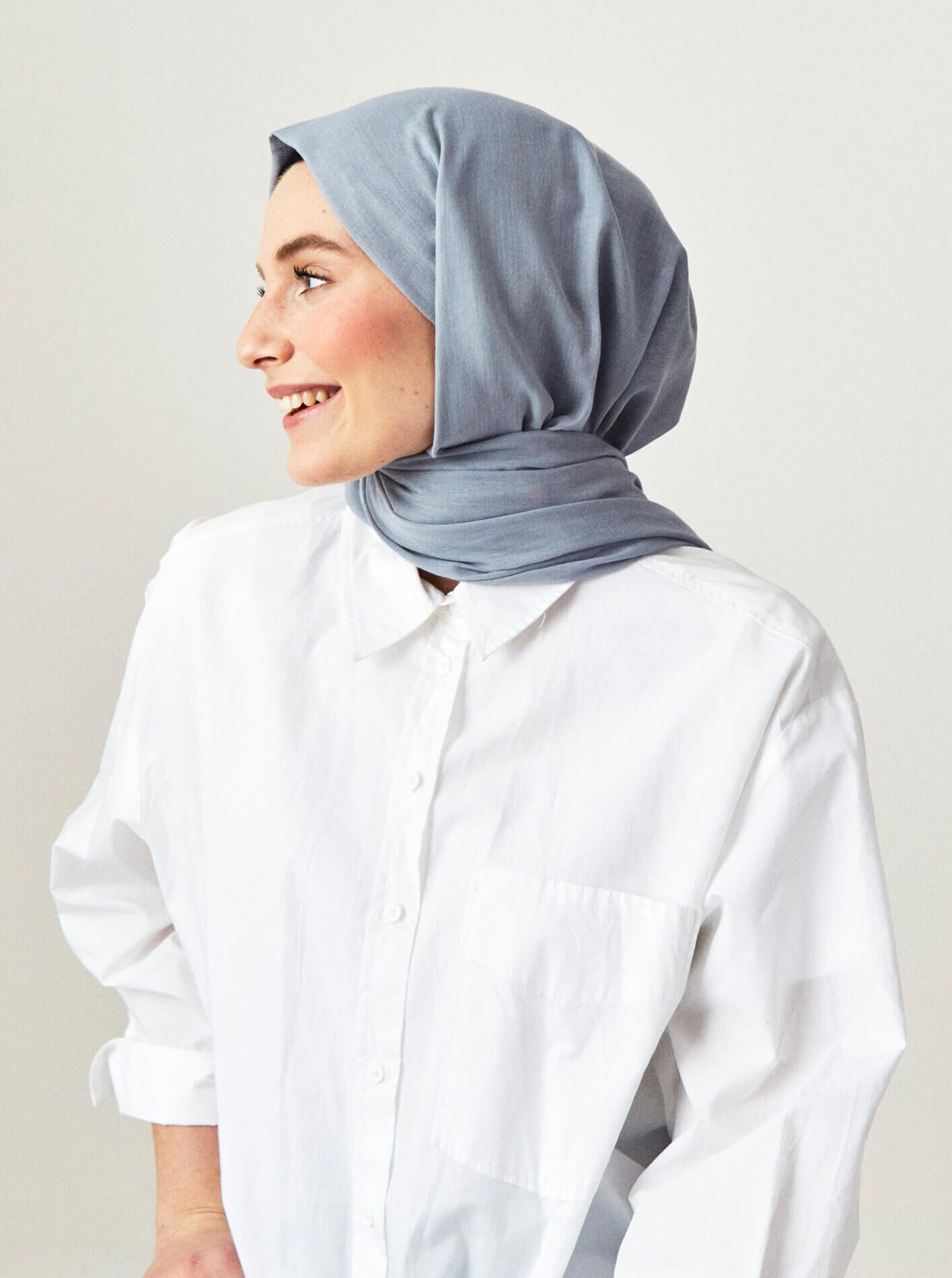Cotton Voile Shawl Ice Frost