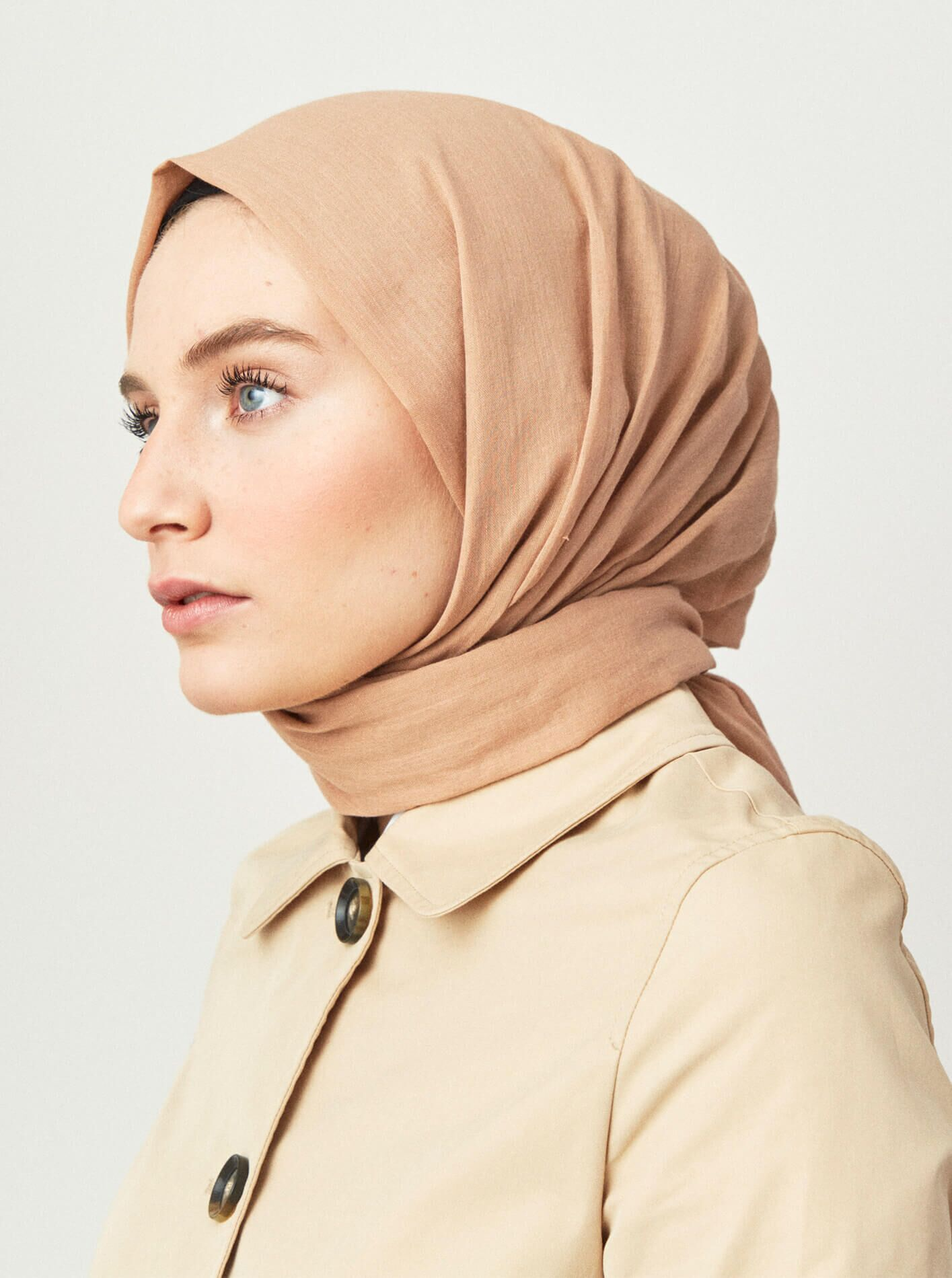 Cotton Voile Shawl Iced Coffee