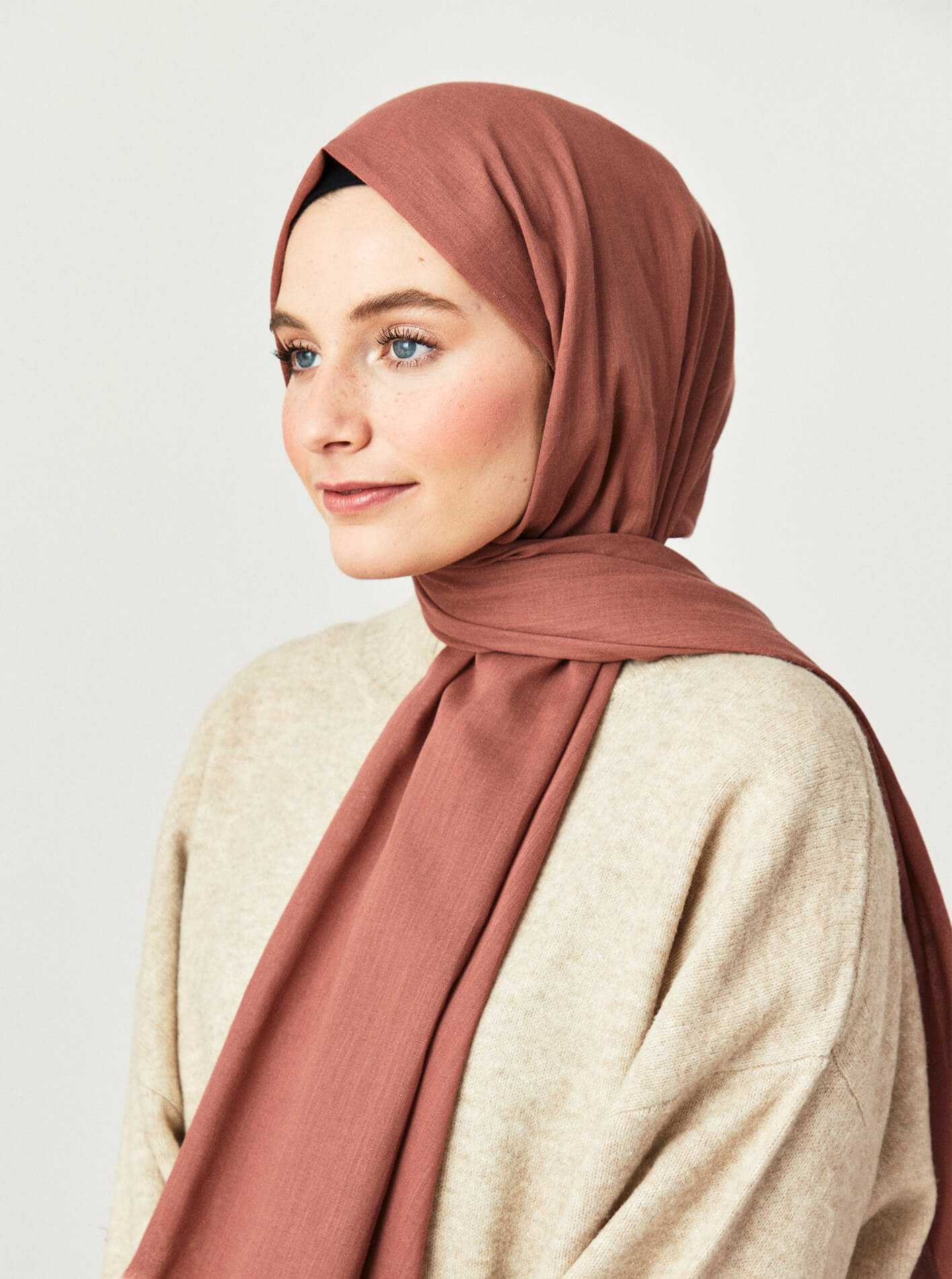 Cotton Voile Shawl Nude