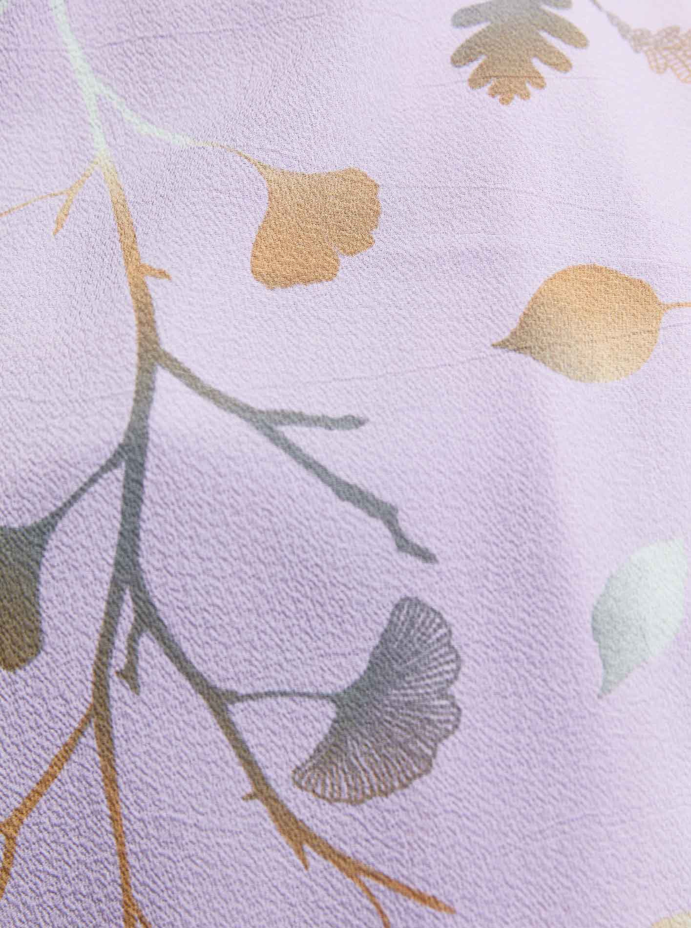 Flora Series Autumn Branches Patterned Shawl Purple