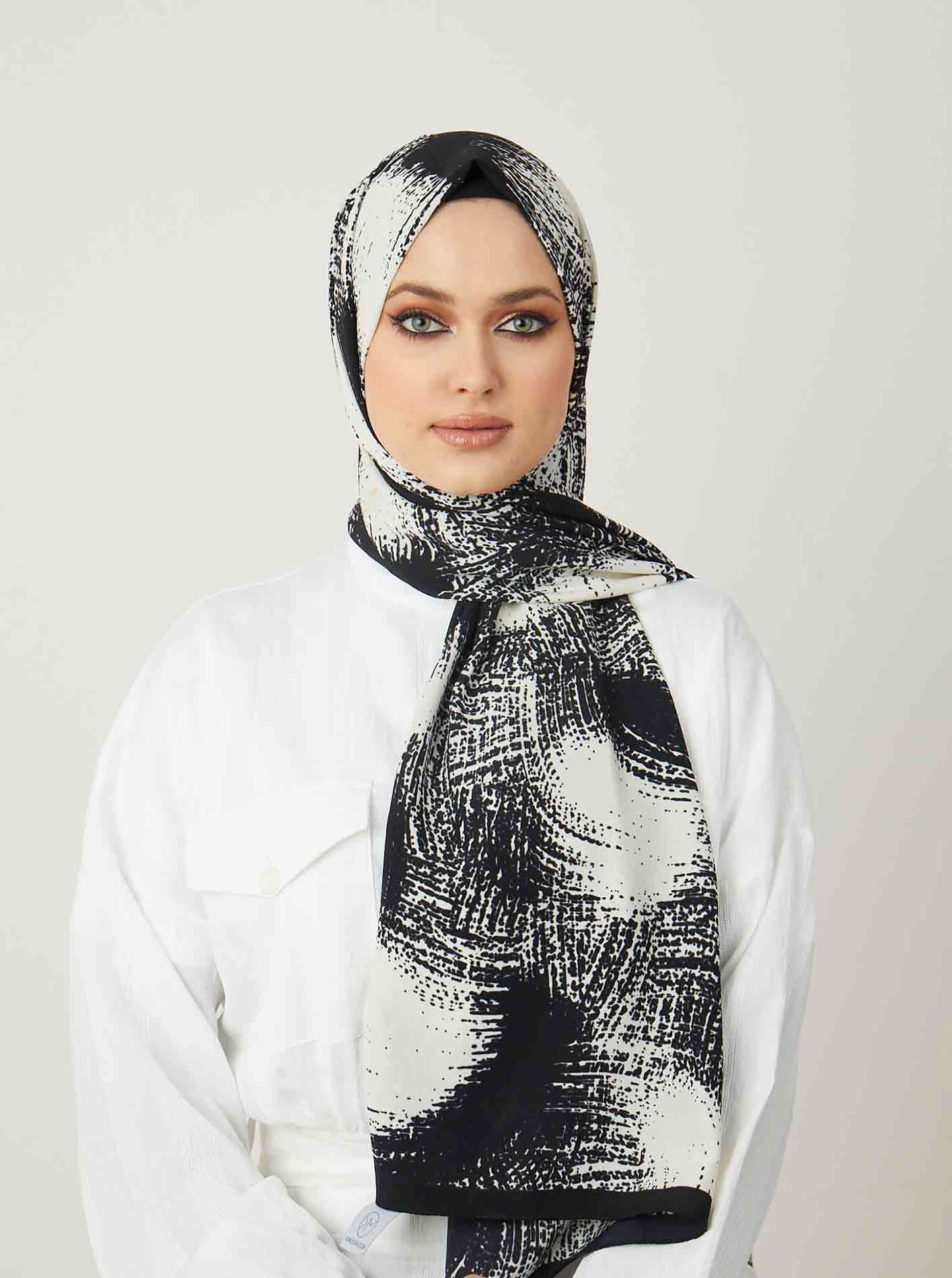 Pearl series Harmony Patterned Shawl