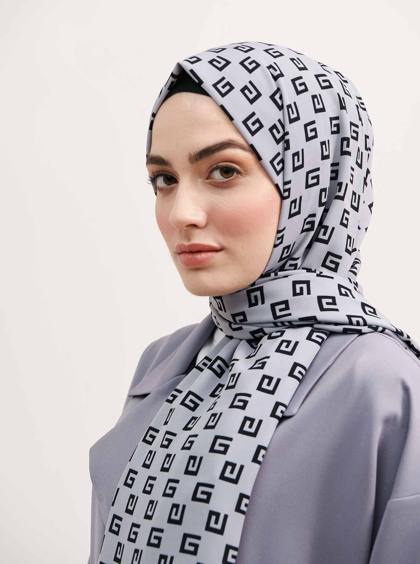 Silver Series G Patterned Shawl
