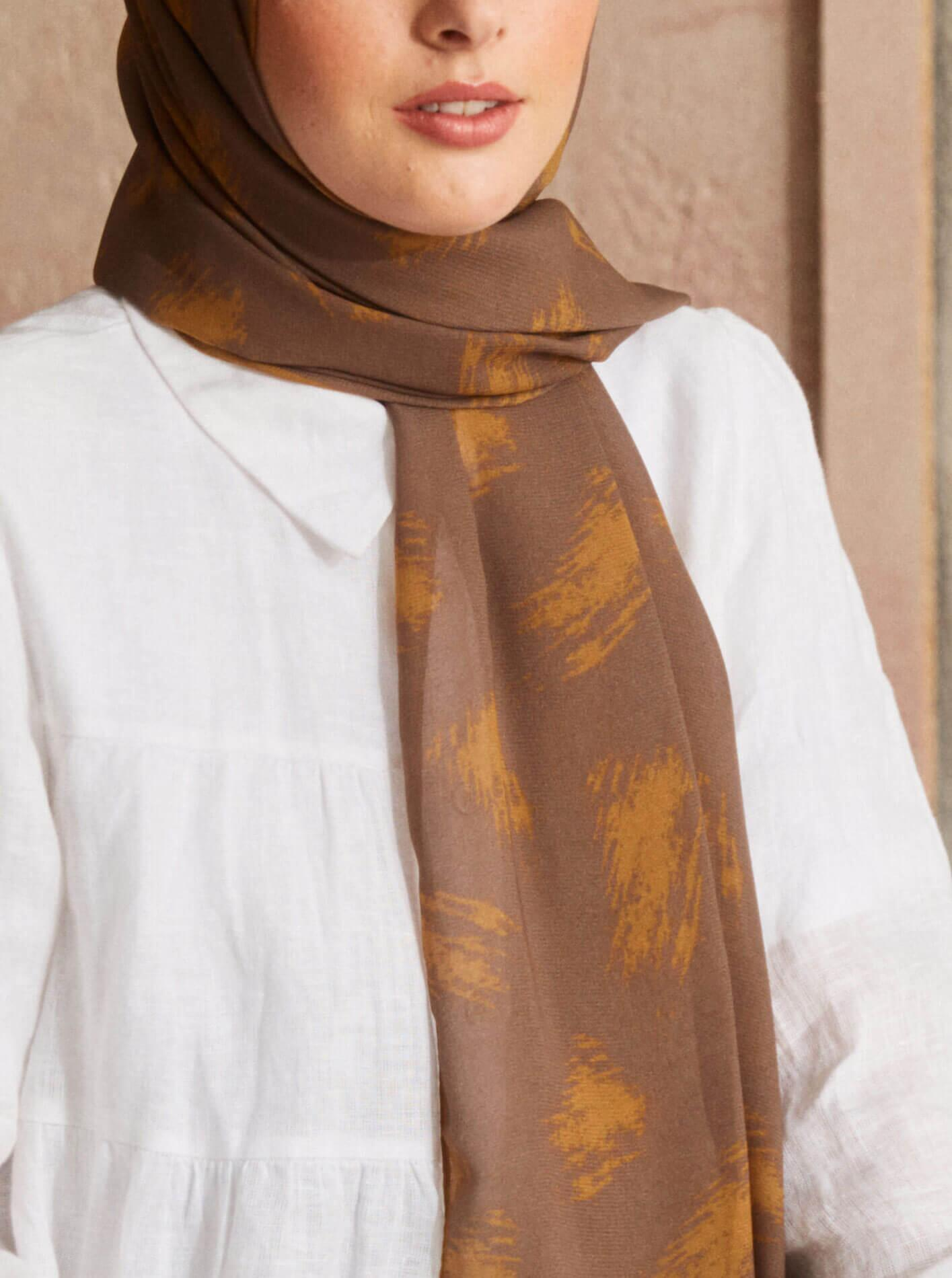 Touch Medina Silk Brush Patterned Brown
