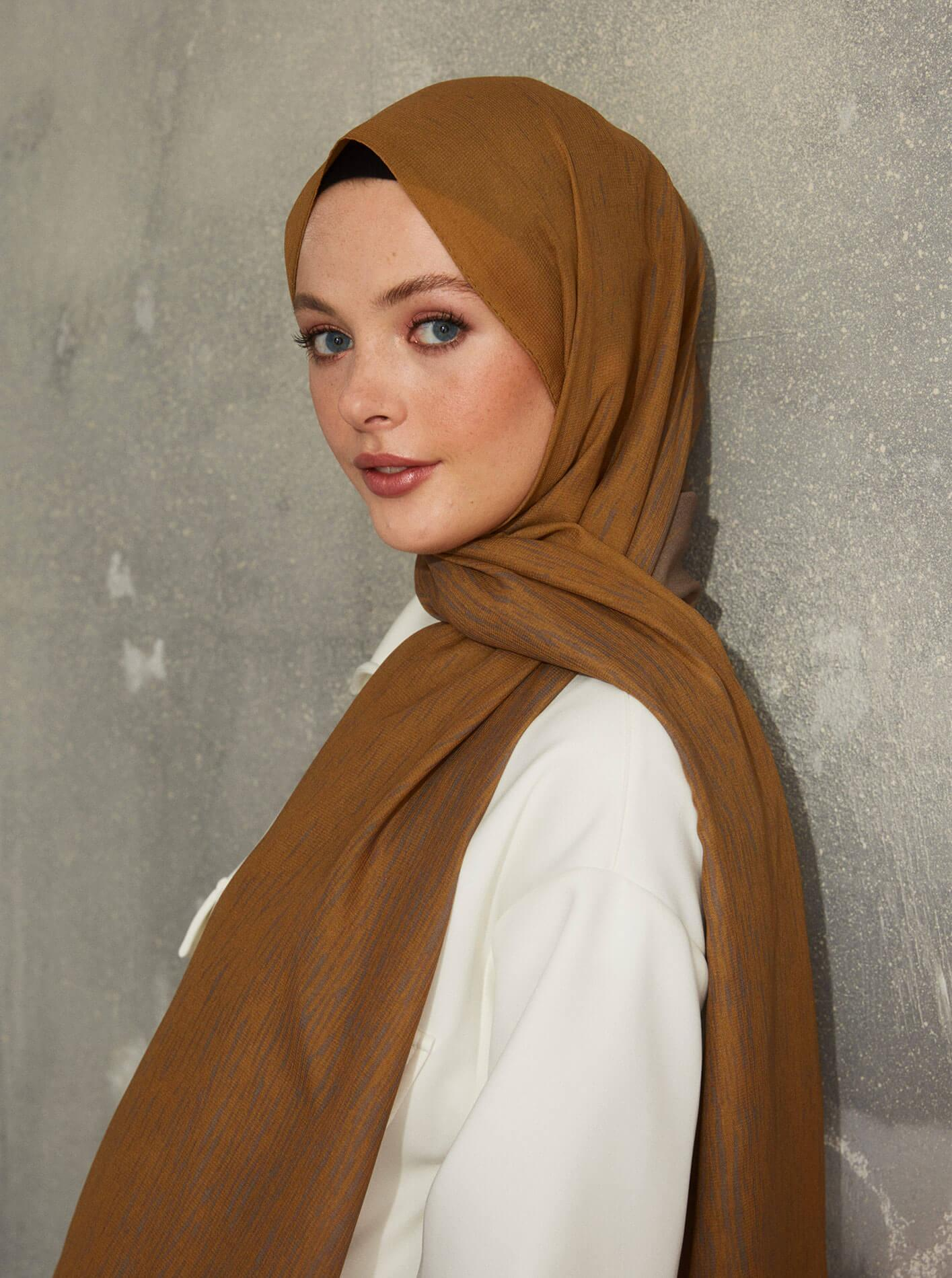 Touch Medina Silk Dash Patterned Brown