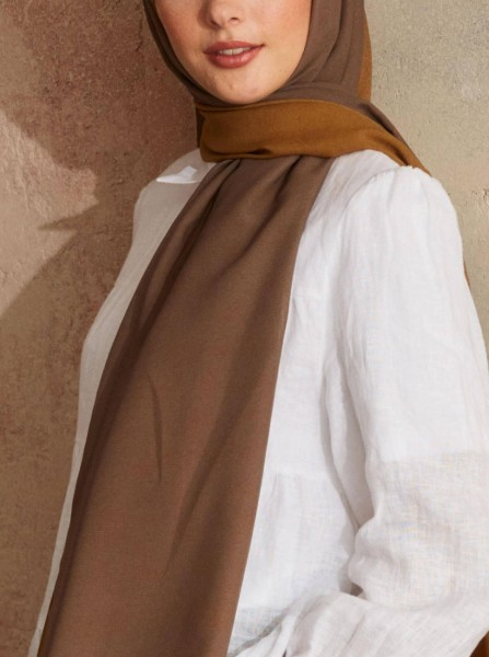 Touch Medina Silk Link Patterned Brown - Thumbnail