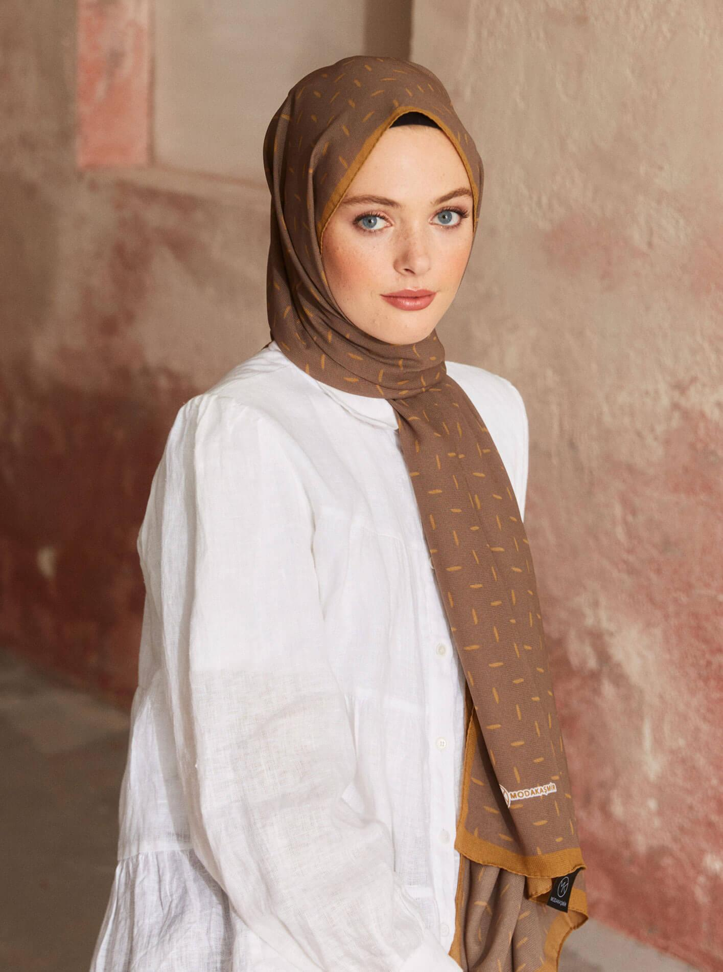Touch Medina Silk Pure Patterned Brown