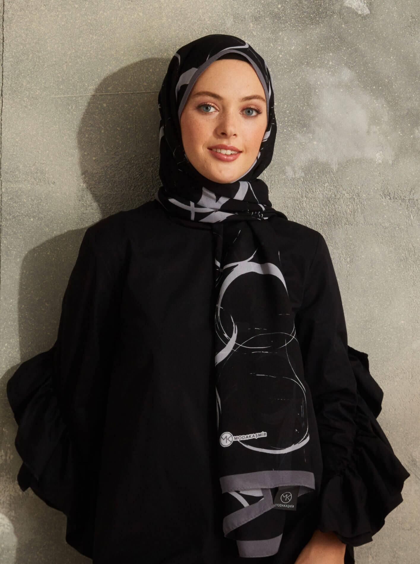 Touch Medina Silk Shadow Patterned Black