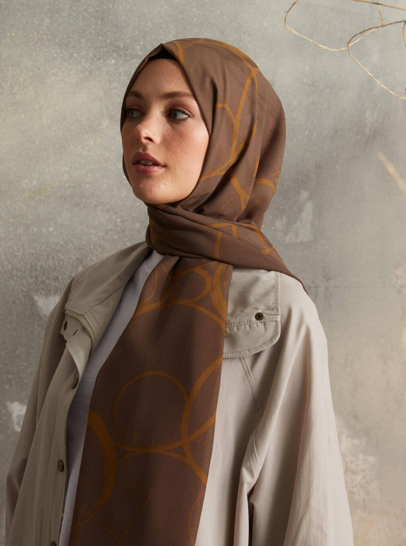 Touch Medina Silk Shadow Patterned Brown