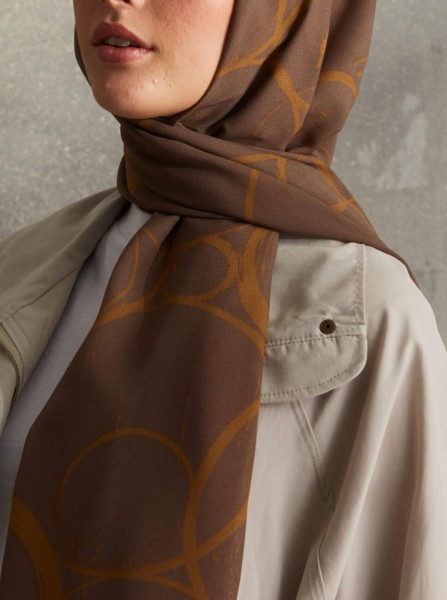 Touch Medina Silk Shadow Patterned Brown - Thumbnail