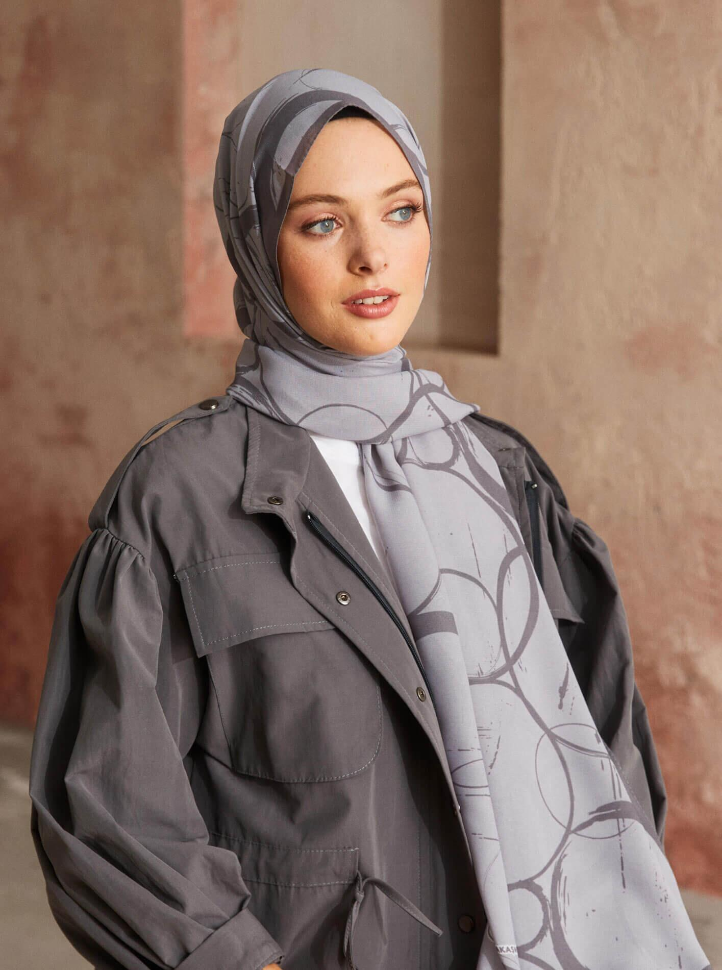Touch Medina Silk Shadow Patterned Grey
