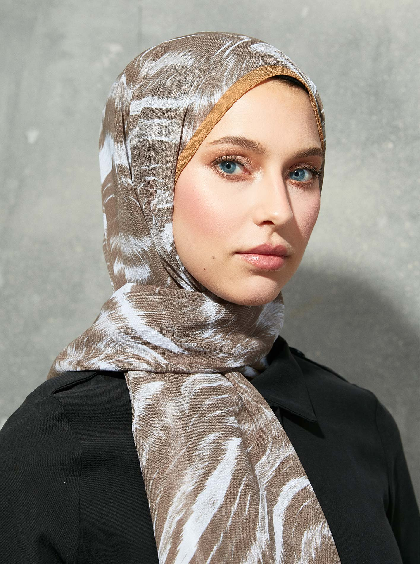Touch Medina Silk Zoma Patterned Brown